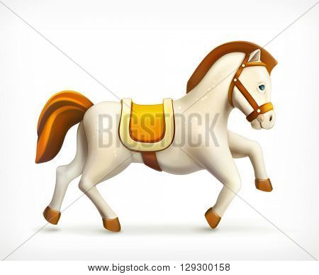 Little horse, vector icon