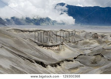 Arid Landscape Defined by Volcanic Eruption at Mt. Bromo, Tengger Semeru National Park, East Java, Indonesia.