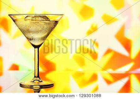 Cocktail glass with copy-space