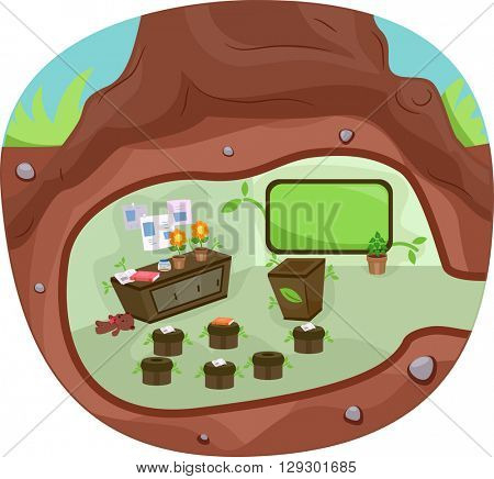 Illustration of an Underground Classroom