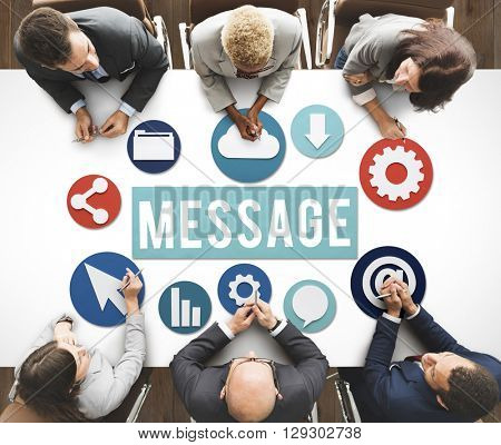 Message Communication Digital Online Concept