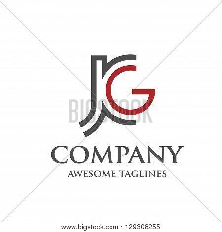 letter J and G, J, G, Letter J,jg letter vector