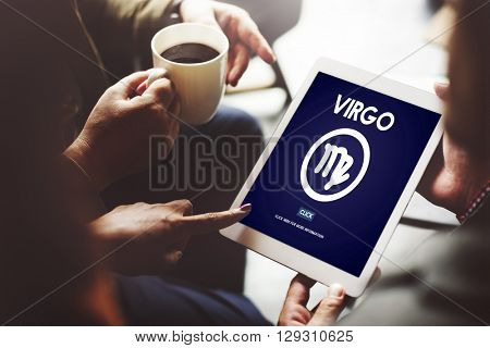 Virgo Zodiac Horoscope Sign Galaxy Concept