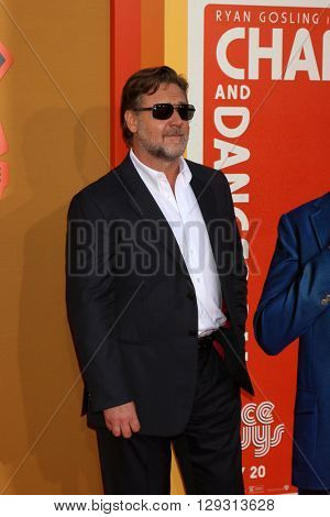 LOS ANGELES - MAY 10:  Russell Crowe at the The Nice Guys Premiere at the TCL Chinese Theater IMAX on May 10, 2016 in Los Angeles, CA