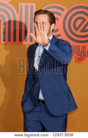 LOS ANGELES - MAY 10:  Ryan Gosling at the The Nice Guys Premiere at the TCL Chinese Theater IMAX on May 10, 2016 in Los Angeles, CA