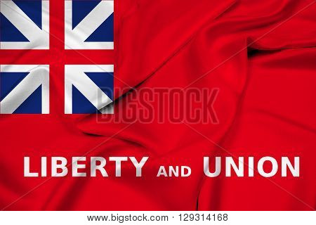 Waving Flag of Taunton Massachusetts, with beautiful satin background