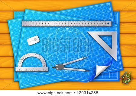 Architectural Background. Vector Illustration, Contains