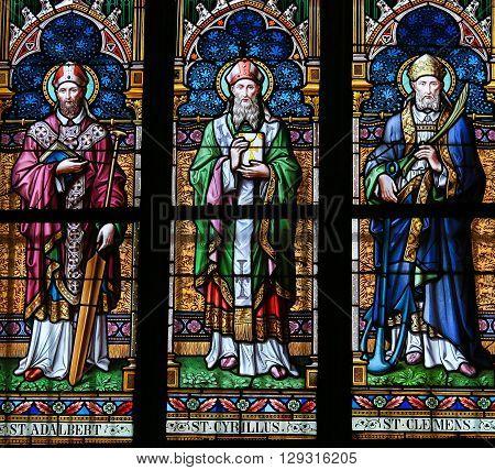 Saints Adalbert, Cyril And Clemens