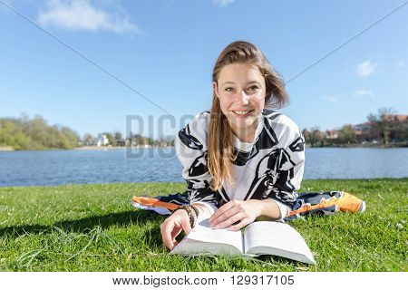 Student Laughs While Learning