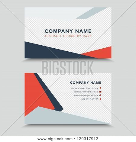 Vector Visit Card. Business Card Template Design.