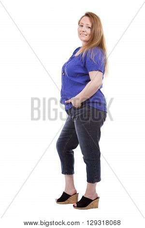 Casual Caucasian Woman