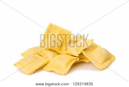 ravioli isolated on white background healthy, tradition