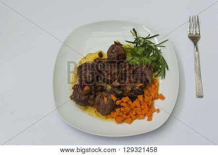 meatballs in sauce, meatballs on white background
