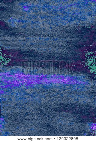 Abstract hand painting. Artistic colorful template. Watercolor texture effect. Grunge vector illustration. Blue and navy colors. Design for card, cover, backdrop, banner, wall paper, poster.