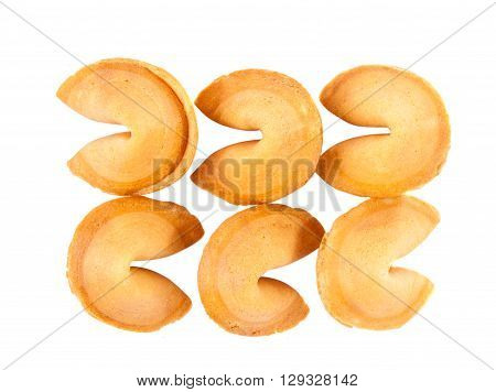 fortune cookies isolated over white background horoscope, biscuit,