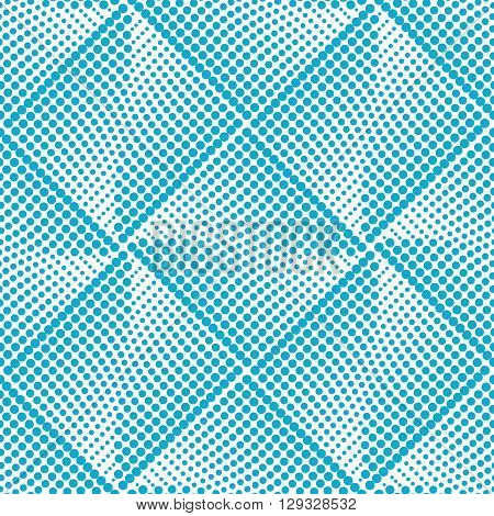 Vector seamless blue dot pattern. Halftone pattern for the posters, banners, leaflets, flyers, presentations, Web site