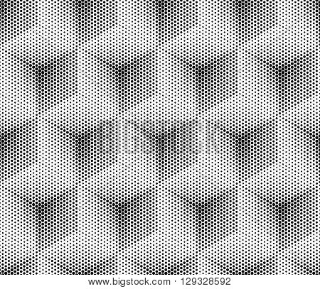 Vector seamless dot pattern. Futuristic technology style halftone background cubes. Halftone pattern for the posters, banners, leaflets, flyers, presentations, Web site