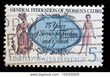 United States Used Postage Stamp, General Federation Of Womens Clubs
