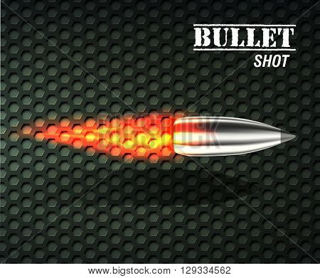 Bullet Background Concept. Illustration