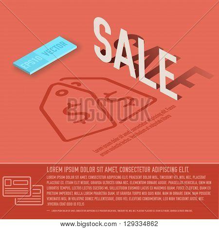 Sale Card Business Vector Background Concept. Illustration Desig