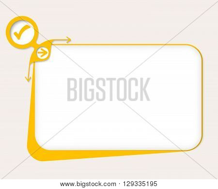 Vector yellow box to fill your text and check mark