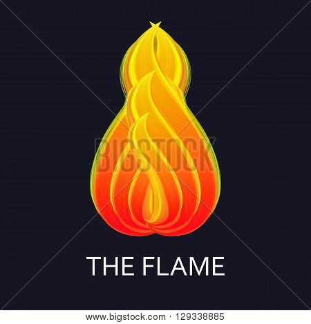 Flame Logo. Fire flame logo and symbol Design.  Vector orange flame.