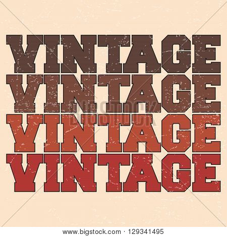 T-shirt print design. Vintage poster stamp. Printing and badge applique label t-shirts jeans casual wear. Vector illustration.