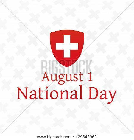 Swiss National Day background. Independence day. Vector, eps10.