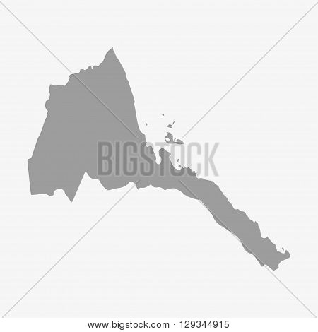 Map of Eritrea in gray on a white background
