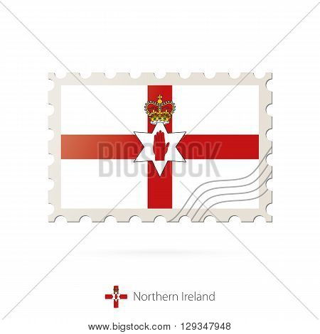 Postage Stamp With The Image Of Northern Ireland Flag.