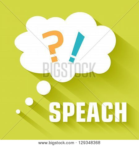 Flat Flip-flop Speach Bubble Concept. Vector Illustration Design