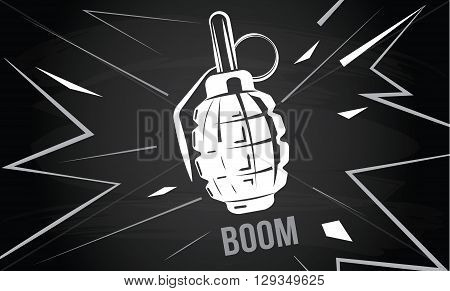 hand grenade, bomb explosion, weapons army weapon, boom bang vector