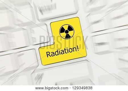 White Conceptual Keyboard - Radiation (yellow Key Zoom Effect)