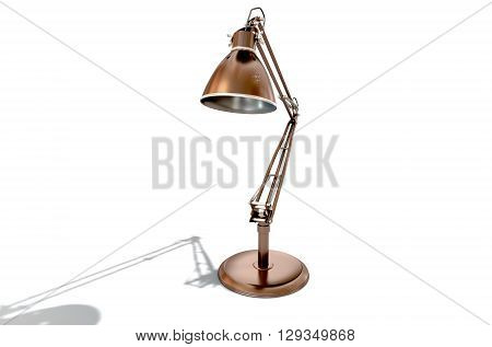 Vintage Copper Desk Lamp