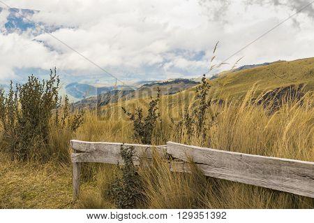 Trekking Road Andes Range Quito Ecuador