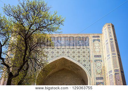 Uzbekistan Samarkand the Bibi Khanim mosque main portal