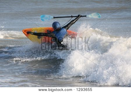 Kayaker Capsizing