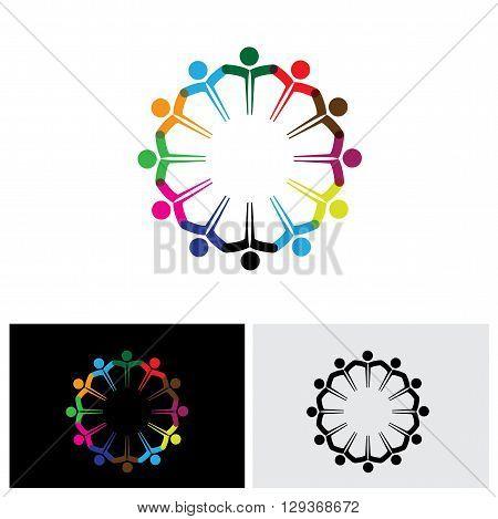 teamwork vector logo icon in eps 10 format