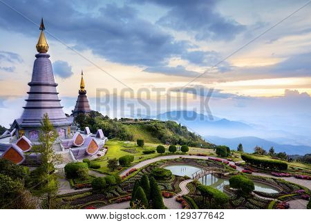 The Great Holy Relics Pagoda Nabhapolbhumisiri Chiang mai Thailand