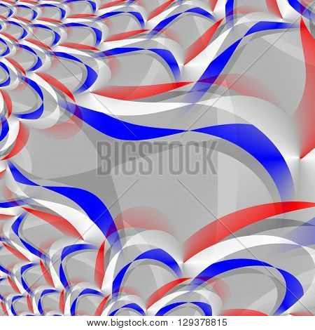 Square tile with abstract background - digitally rendered design