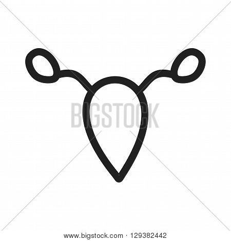 Uterus, ovary, female icon vector image. Can also be used for human anatomy. Suitable for mobile apps, web apps and print media.