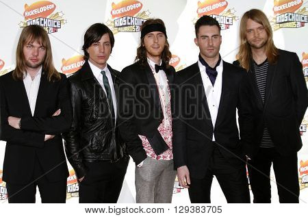 Adam Levine and Maroon 5 at the Nickelodeon's 20th Annual Kids' Choice Awards held at the Pauley Pavilion in Westwood, USA on March 31, 2007.