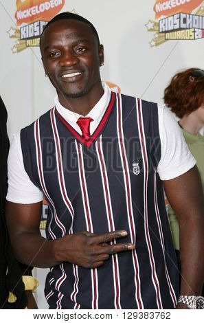 Akon at the Nickelodeon's 20th Annual Kids' Choice Awards held at the Pauley Pavilion in Westwood, USA on March 31, 2007.