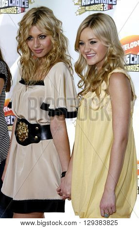 AJ Michalka and Aly Michalka of Aly & AJ at the Nickelodeon's 20th Annual Kids' Choice Awards held at the Pauley Pavilion in Westwood, USA on March 31, 2007.