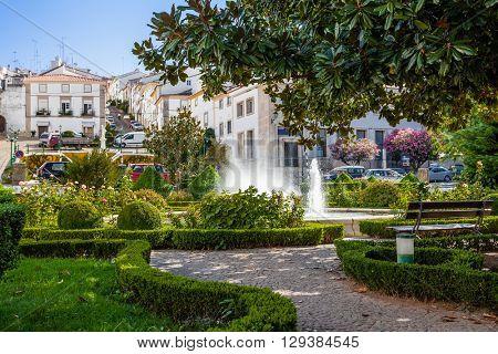 Goncalo Eanes de Abreu Garden in Castelo de Vide, Portalegre, Alto Alentejo, Portugal.