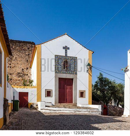 Nossa Senhora da Alegria church in Castelo de Vide, Portalegre, Alto Alentejo, Portugal.