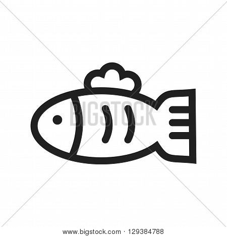 Fish, aquarium, pet icon vector image. Can also be used for pet shop. Suitable for use on web apps, mobile apps and print media.