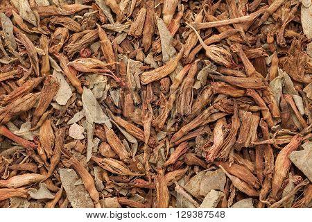 Macro closeup background texture of Organic Fire Flame Bush or Dhawai Phool (Woodfordia Fruticosa) seeds.