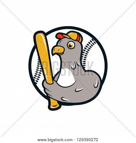 baseball logo. dove with bat, baseball player