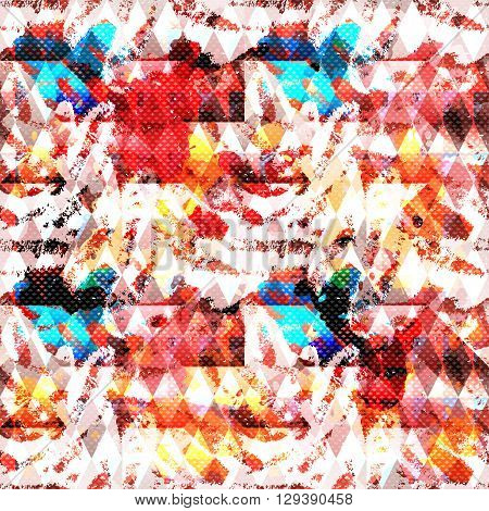 geometric objects graffiti grunge effect vector illustration abstract high quality